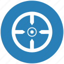 aim, blue, round, shoot, target icon