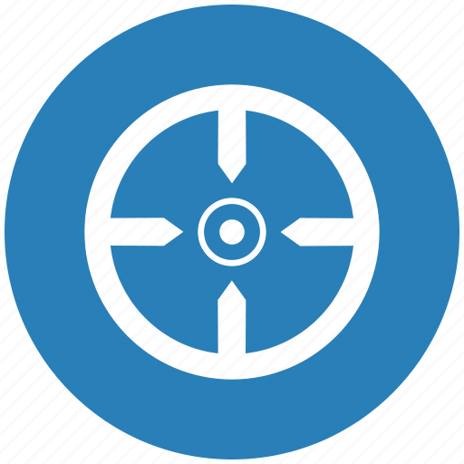aim, blue, round, shoot, target icon