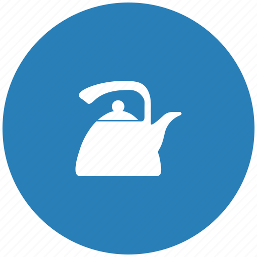 blue, dishes, kitchen, pot, round, tea icon