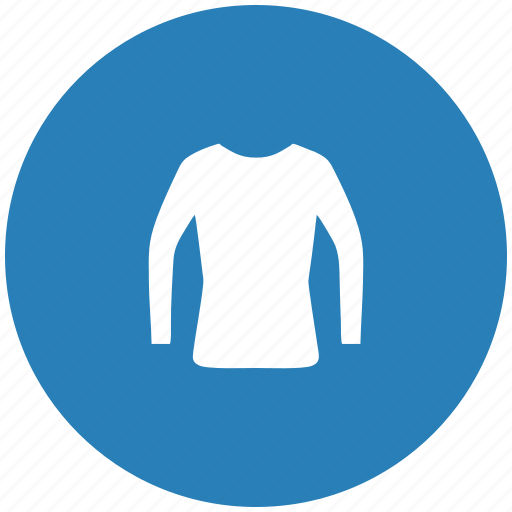 blue, jacket, round, shopping, wear, woman icon