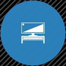 blue, plazma, round, screen, set, tv, wide icon