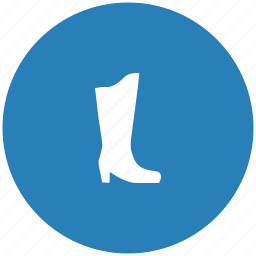 blue, boots, lady, round, shoe, woman icon