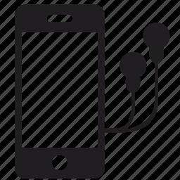 headphones, iphone, mobile, smartphone icon