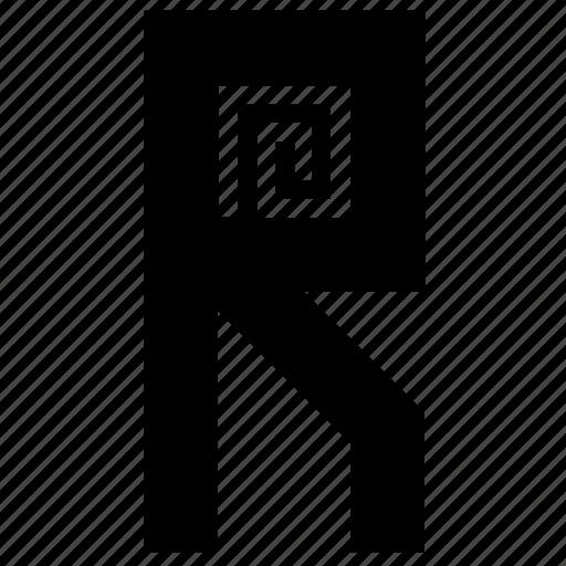 chip, chipset, letter, mark, r, rfid, sign icon