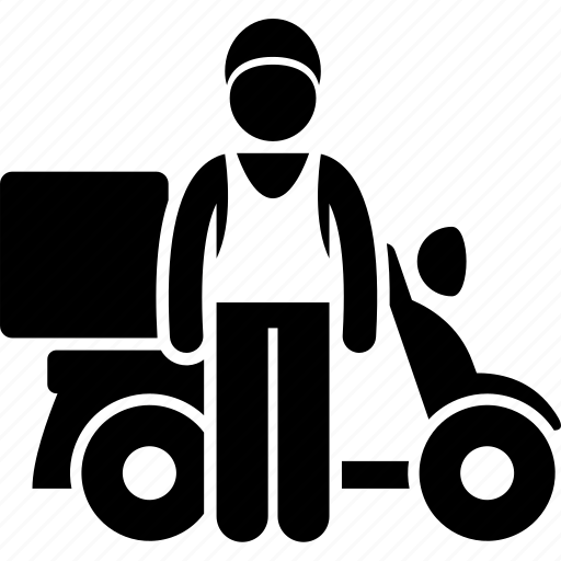 bike, catering, delivery, food, man, motorbike, motorcycle icon