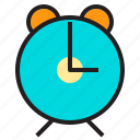 alarm, clock, hour, ring, stopwatch, timepiece icon