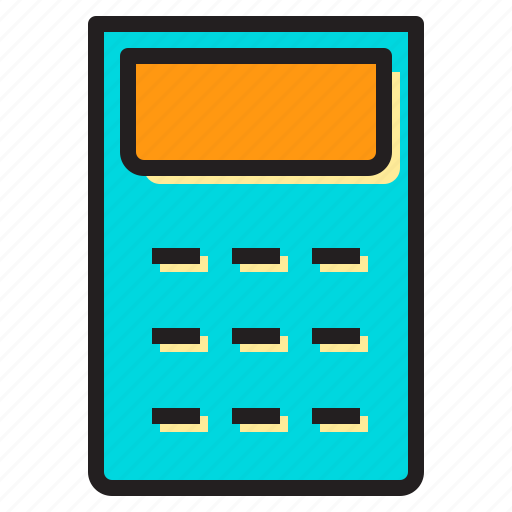 calculating, calculator, device, digital, electronic icon