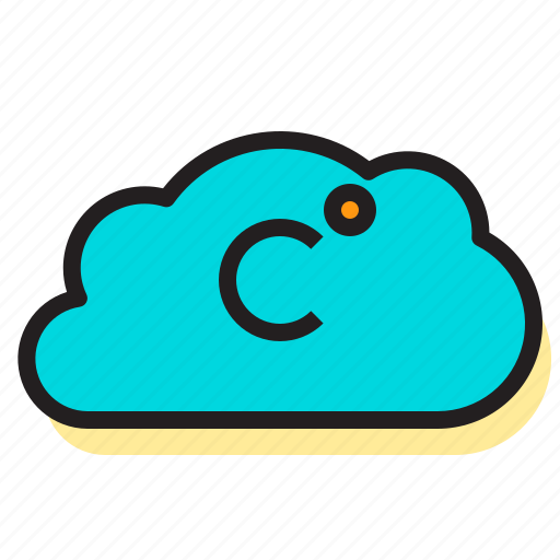 celsius, clouds, storm, temperature, thermometer, weather icon
