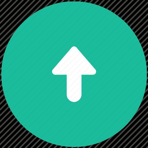 arrow, navigation, top icon
