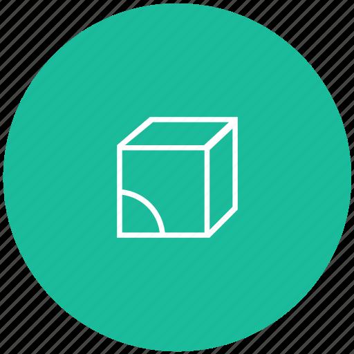 cube, figure, form icon