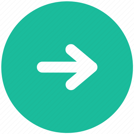 arrow, navigation, right, roll, turn icon