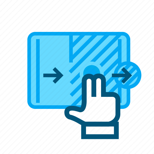 double, gesture, interaction, interface, swipe, ui, usability icon