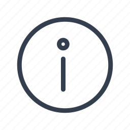 circle, description, i, information, interface icon