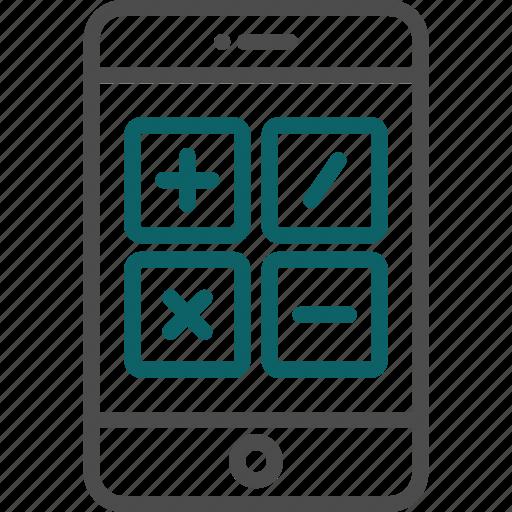 calculating, calculator, calculator app, finance, math, mathematics, maths icon