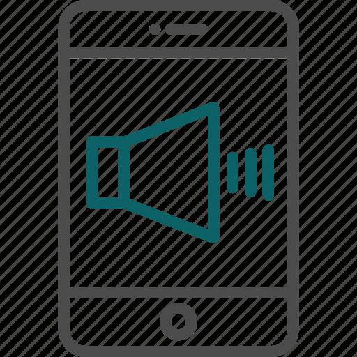 audio, high volume, mobile speaker, sound, speaker, volume icon