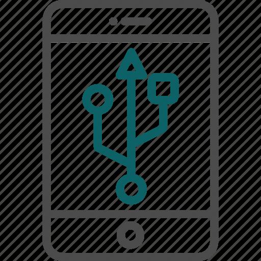 disk, smartphone usb, storage, usb, usb connection icon
