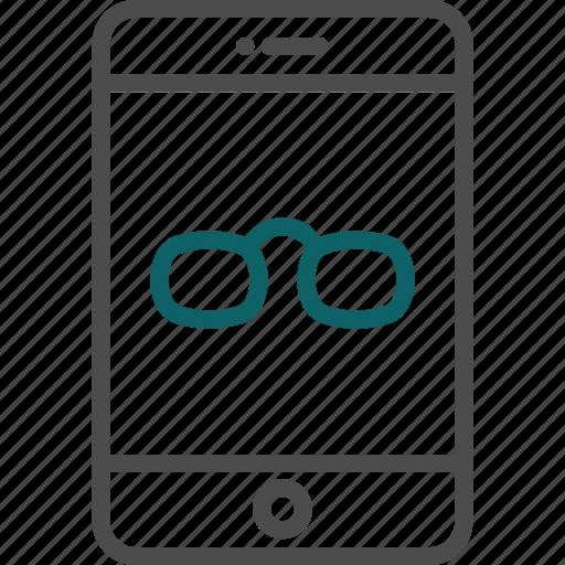 eyeglasses, glasses, sunglasses, virtual reality, vr icon