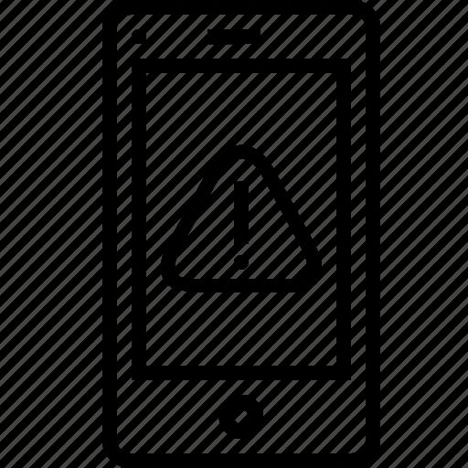 alert, browser, caution, danger, error, mobile, webpage icon