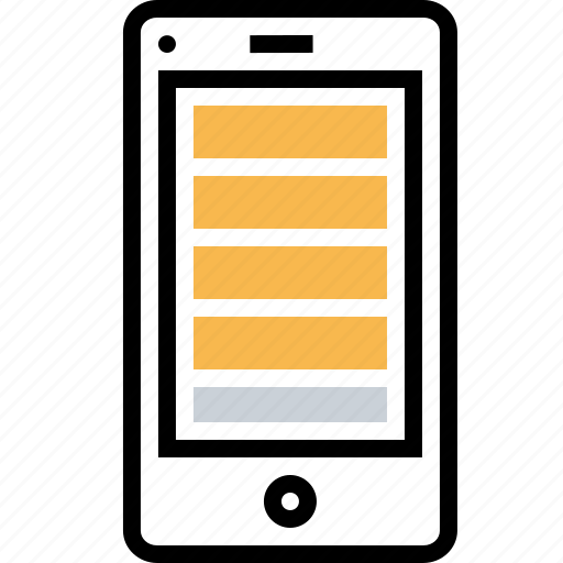 application, browser, grid, layout, mobile, webpage, wireframe icon