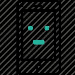 browser, emoji, error, layout, mobile, noresponse, smiley icon