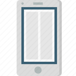 application, browser, grid, mobile layout, vertical, webpage, wireframe icon