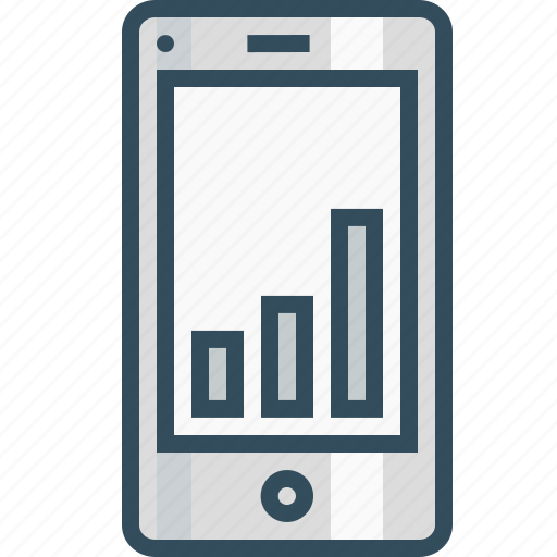 analysis, chart, measure, mobile, performance, statics, webpage icon