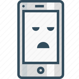 application, bored, design, emoji, layout, mobile, smiley icon