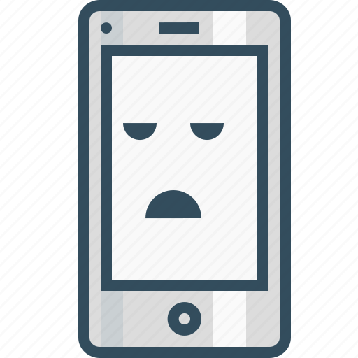 application, bored, design, emoji, layout, mobile, smiley icon