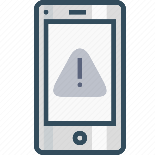alert, browser, caution, danger, error, mobile, webpage icon