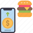 buy, food, with, phone, cell, iphone, device
