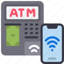 contactless, atm, cell, iphone, device, transaction, machine