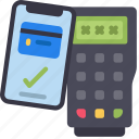 contactless, phone, payment, cell, iphone, device, pos icon