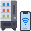 contactless, vending, machine, cell, iphone, device, wireless icon