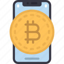 mobile, bitcoin, cell, iphone, device, crypto, cryptocurrency