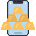 mobile, gold, bars, cell, iphone, device, bullions