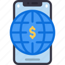 mobile, online, spending, cell, iphone, device, internet icon