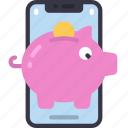 mobile, savings, cell, iphone, device, save, piggy icon