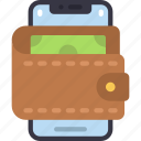 phone, wallet, cell, iphone, device, money, cash icon