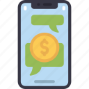 send, money, with, messenges, cell, iphone, device