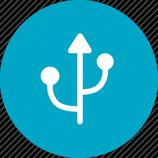 communication, datas, interface, port icon