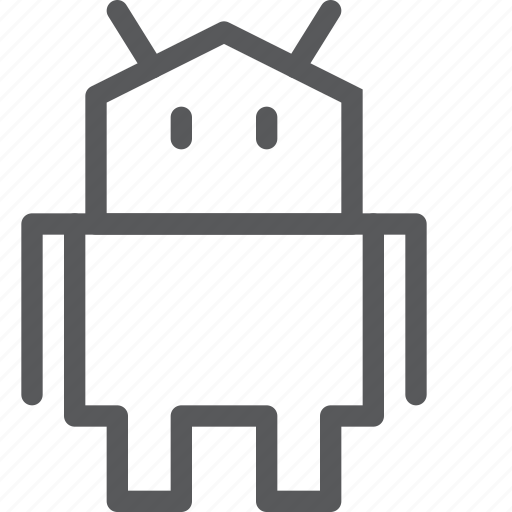 android, communication, device, mascot, robot, smartphone icon