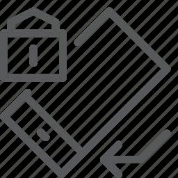 arrow, communication, device, lock, mobile, phone, rotate, smartphone icon