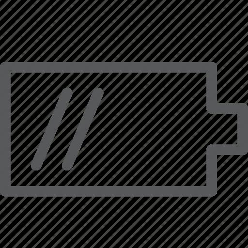battery, energy, horizontal, medium, mobile, phone, power icon