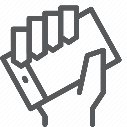 call, communication, device, hand, holding, mobile, phone, smartphone icon