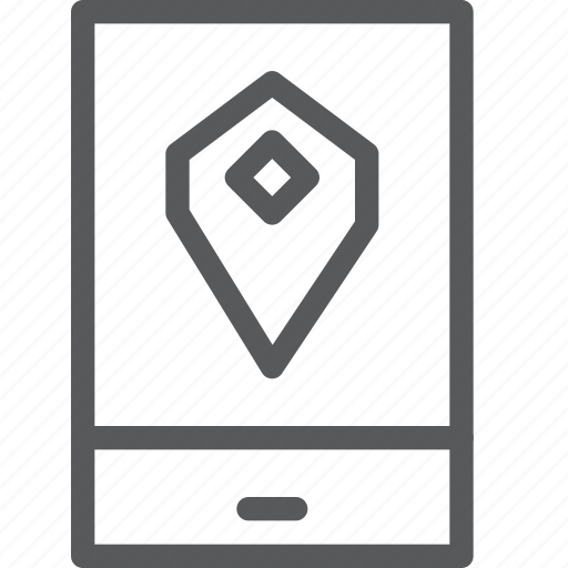 call, communication, device, map, mobile, phone, portrait, smartphone icon