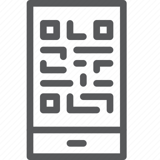 call, communication, device, mobile, phone, qr, reader, smartphone icon