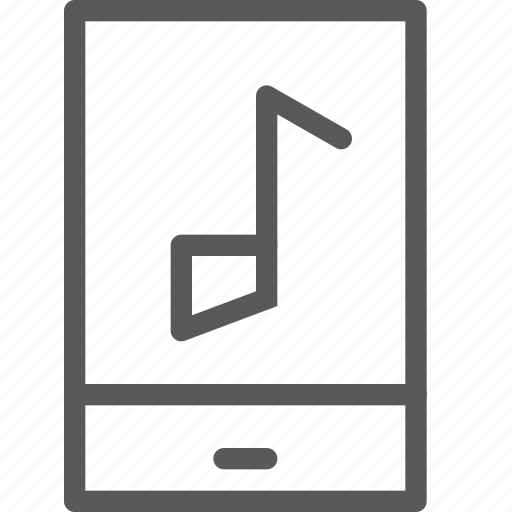 communication, device, mobile, music, note, phone, smartphone, song icon