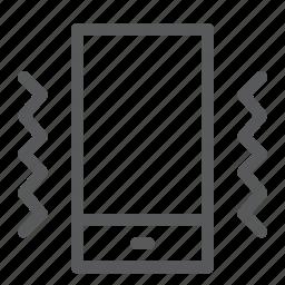 call, communication, device, mobile, phone, portrait, smartphone, vibration icon
