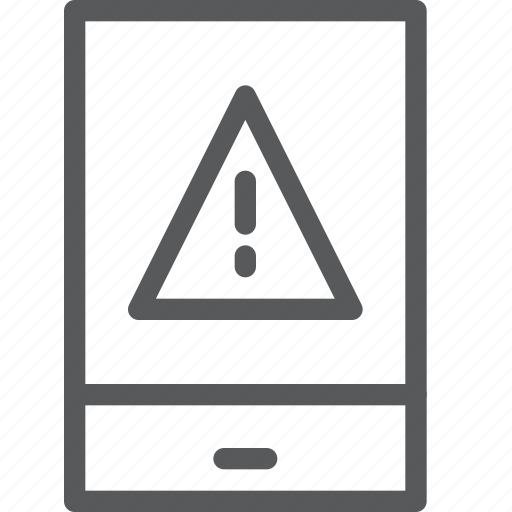 call, communication, device, mobile, phone, portrait, smartphone, warning icon