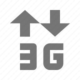 3g, arrows, signal icon